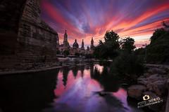 Atardeceres de verano en Zaragoza - Adrian Sediles (Sediles) Tags: sunset rio river atardecer rojo colores zaragoza ebro zgz sediles adriansediles blogadriansedileses fotosediles