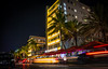 Bustling Ocean Drive (lekanne2020) Tags: city longexposure travel architecture night cityscape nightscape florida miami nightlight miamibeach southbeach sobe lightstreaks