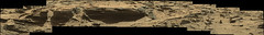 Layered Rocks and Unlayered Sand (sjrankin) Tags: 10december2016 edited nasa mars msl panorama galecrater curiosity rocks layers