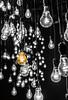Shine Bright (relishedmonkey) Tags: nikon d5300 35mm 18g bulbs selective colour black white orange single one lonely alone isolated among bright shining shine glow dark room inside lights lighting kochi kerala bienale art exhibition