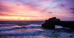 Tanah Lot Temple Sunsets (Aakash Gupta Photography) Tags: tanahlot bali indonesia sunset color longexposure silhouette water sky