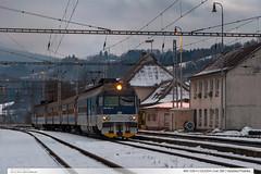 460.028-4 | Os3204 | trať 280 | Valašská Polanka (jirka.zapalka) Tags: train trat280 rada460 autumn snow cd os valasskapolanka stanice morning