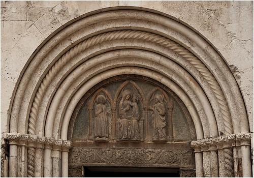 1138-DETALLE DE SANTA ANASTASIA - ZADAR - CROACIA -