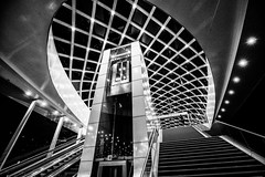 Space stairs in Centraal (zilverbat.) Tags: denhaag blackandwhite image blackwhitephotos zilverbat zwartwitfotografie monochrome centraalstation station hofstad hotspot bw blackwhite urban citytrip city nightshot nightphotography nightlights night avondfotografie avond zwartwit mono noir modern centrum centraal architecture afterdark dark sf galaxy bild