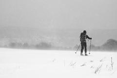 Schneetreiben am Rande des Sandsteins (all martn) Tags: schnee snow winter langlauf langlaufen cross country skiing ski hohe tour erzgebirge osterzgebirge krusne hory ore mountains