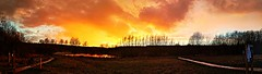 Panoramic of the sunset over Horseshoe lake (eucharisto deo) Tags: sunset afterglow reflection reflected horseshoe lake sence valley park panoramic panorama