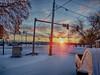 A New Day (kendoman26) Tags: hdr nikhdrefexpro2 sunrise morning snow freshsnow cold fuji fujifinepix fujifinepixs1 bridgecamera