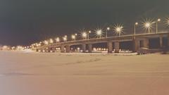 The bridge over The Kostroma river (Explored) (andrey.senov) Tags: russia kostroma province evening river ice snow winter bridge lights glow россия кострома провинция вечер река лед снег зима мост огни свет fujifilm fuji xa1 fujifilmxa1 explore flickrsexplore explored inexplore 100faves