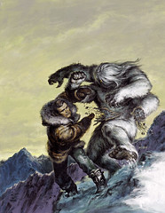 The Six Million Dollar Man #5 (1977), cover by Earl Norem (Tom Simpson) Tags: earlnorem pulp illustration vintage art sixmilliondollarman android yeti mountain