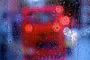 London as we know it (RosLol) Tags: london roslol uk londra rain pioggia england bus red rosso light luci bokeh vetro glass doubledeckerbus drops gocce acqua water abstract astratto