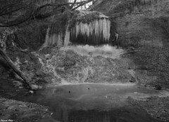 Cascade de Glace a Coulans Sur Lison (francky25) Tags: cascade de glace coulans sur lison franchecomté doubs noir et blanc