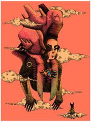 © Ehecactlo - chamán del viento (Cacto pinhole) Tags: illustration ink ilustración illustrator drawing draw dibujo digital cacto cactopinhole colors ehecactlo leonardosanchez character