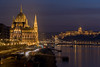 Budapest Parliament (ANG Imagery) Tags: transitionlight historical architecture illuminated bright dusk sunset winter easterneurope river danube scene traffictrail travel urban city parliament budapest lowlight night
