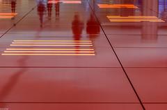 ceiling lighting reflection (zora_schaf) Tags: reflection reflektion decke marienplatz untergeschoss münchen munich beleuchtung lighting underground zoraschaf rot red