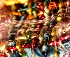 Weather with you...by Crowded House (tpaddison1) Tags: macro scarf texture colours abstract artineverything hiddenworld macromondays flickr flickrmonday canon color inspiredbyasong winter rainbow weather warm yarn january warmth cozy music