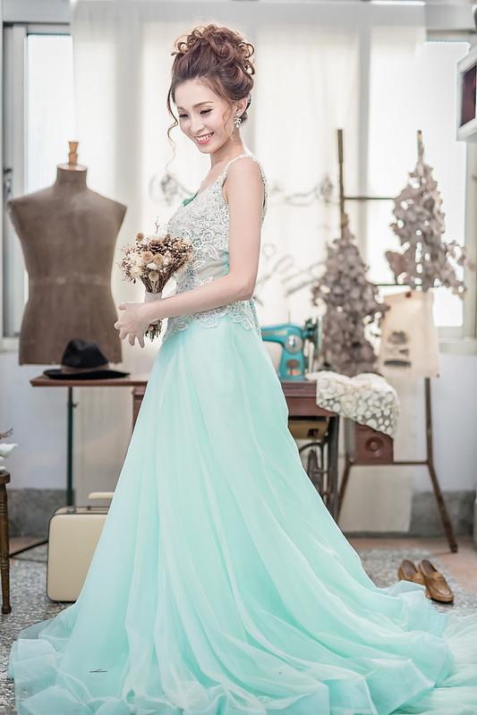 婚紗創作 | 嘉義新秘 歐美風 甜美編髮婚紗造型 不凋花頭飾