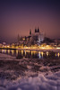 Albrechtsburg in the winter night (mad_airbrush) Tags: albrechtsburg meissen night nacht winter castle schloss burg 5d 5dmarkiii 35mm ef35mmf2isusm longexposure langzeitbelichtung purple snow elbe river light streetlights dom