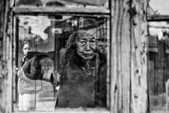 the old cook in the alley~ Shanghai (~mimo~) Tags: asia china mimokhairphotography oldstreet shanghai streetphotography woman window naturalfilter street self blackandwhite documentary