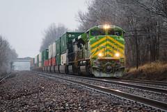 Icy IT (Jake Branson) Tags: train railroad it illinois terminal heritage unit locomotive ns norfolk southern 1072 wentzville mo missouri josephville emd sd70ace