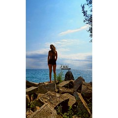 dream (chadmezenberg) Tags: babe girl island water summer boat pirate pirateship dream swim swimming city nature the6ix toronto hot cute woman rocks beach
