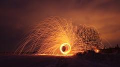 Finally made it` (* mariozysk *) Tags: steel wool iskry stalowa wełna sparks fire night longexposure flickfriday