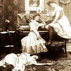 Ladies Of the Night (~ Lone Wadi ~) Tags: prostitutes parlor bordello brothel retro 1890s 19thcentury victorian unknown piano