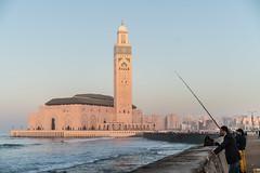 Hassan II Mosque, Casablanca (ReinierVanOorsouw) Tags: canonlens photography reiniervanoorsouw reiniernothere marokko morocco moroc sonya7rii sony sonya7r travel northafrica african arabicafrica roadtrip travelling exposure colours city marrocos марокко casablanca coast الدارالبيضاء mosque moskee anfa sunset カサブランカ citytravel касабланка hassaniimosque grandemosquéehassanii