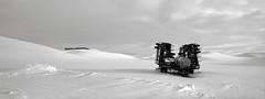In a Field, Washington (austin granger) Tags: field washington palouse snow winter bleak fallow rural farm crop machinery farming equipment desolate evidence cold alien topography film xpan