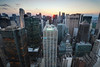 Sunset over Midtown Manhattan, New York City (itscashtro) Tags: newyork nyc rooftop roof tokina1224 nikond90 nikoncapturenx photomatix blendedexposures sunset sonybuilding rockefellercenter lexingtonave 601lexington midtown manhattan