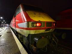 Ghost in the machine (legomanbiffo) Tags: railway train station night ecml leeds doncaster 91 dvt 225 hst vtec virgin