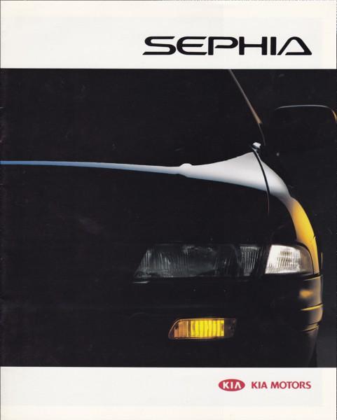 auto cars car voiture vehicle kia 1994 sephia brochure fahrzeug folleto prospekt carbrochure opuscolo kiasephia brochura broschyr autobrochure