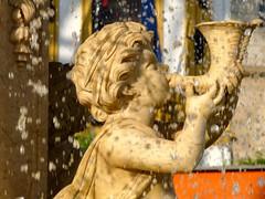 Spain, Merida, fountain (balavenise) Tags: angel publicspace spain eau ange merida fontaine goutte publicfountain