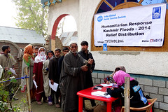 Indian administered Kashmir aid distribution for flood response