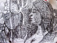 carnet rouge (Lemoox) Tags: dessin carnet be2015