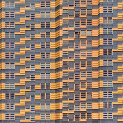Urban Progression (Paul Brouns) Tags: windows urban orange abstract netherlands lines amsterdam yellow facade square paul geometry squareformat geometrical brouns iphoneography instagramapp uploaded:by=instagram paulbrouns paulbrounscom