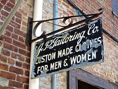J.P. Tailoring Co., Roanoke, VA (Robby Virus) Tags: men sign virginia back alley women steel clothes made company roanoke signage co custom tailor jptailoring