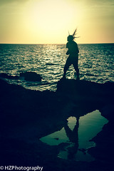 Near Lucea (Heidi Zech Photography) Tags: ocean sunset man silhouette dreadlocks cliffs jamaica caribbean dread jamaicanman