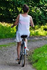 The girls in their summer clothes pass me by (osto) Tags: bike bicycle denmark europa europe sony bicicleta zealand bici scandinavia danmark velo vlo slt rower cykel a77 sjlland osto alpha77 osto fietssykkel july2015
