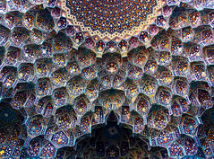Imam Mosque, Isfahan, iran (ChristopherNul) Tags: travel blue art beautiful pattern iran mosaic muslim islam religion persia mosque east tiles middle esfahan isfahan imam symetri