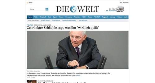 """""""Die Welt"""" ohne Werbung"""