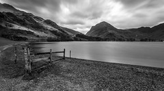 Buttermere Black and White Long Exposure Lee Big Stopper (capturedcanvas.co.uk) Tags: longexposure mountain black mountains canon landscape moody tripod captured lakedistrict canvas lee usm 1740mm 1740 manfrotto buttermere 6d 1740l longshutterspeed leefilter photosoncanvas leebigstopper capturedcanvas