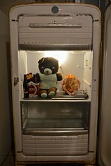 Teddy Bear in a Kelvinator Take 2 (ricko) Tags: chicken beer vintage toy refrigerator kelvinator
