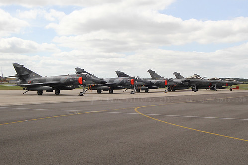 French Navy Super Etendards and Rafales