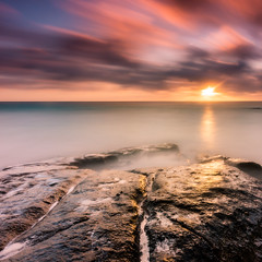 Colourful Sunset (Myu83) Tags: longexposure sunset rock island indianocean filter fourseasons nd seychelles colourful reverse graduated density neutral firecrest 3stop petiteanse singhray 10stop maheisland darylbenson hitechfilter formatthitech canon16354l