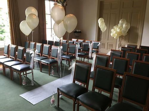 Tafeldecoratie 3ballonnen Gronddecoratie Kasteel van Rhoon