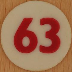 Bingo Number 63 (Leo Reynolds) Tags: xleol30x squaredcircle number numberbingo xsquarex bingo lotto loto houseyhousey housey housie housiehousie numberset group9 63 groupnine sqset120 60s canon eos 40d xx2015xx xxtensxx sqset
