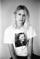 Amalie (gguillaumee) Tags: nyc portrait woman newyork film girl brooklyn analog studio shooting bushwick daggers leicam7 xtol fujineopanacros amaliebruun excops