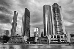 Southbank Melbourne (PhotosbyDi) Tags: blackandwhite bw monochrome cityscape melbourne southbank crowncasino nikond600 nikonf282470mmlens