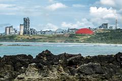 Pabrik semen Merah Putih (hastuwi) Tags: pantai sawarna beach sea merahputih bayah banten indonesia idn lebak