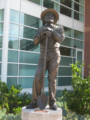 RICHARD PEDERSON. (goldiesguy) Tags: goldiesguy statue statues art artwork scenery sculpture sculptures bronze